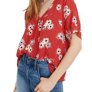 Madewell Rhyme Top in Daisy Society Blouse